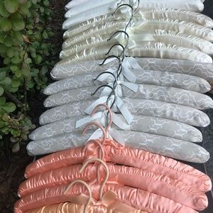 19 PC Assorted Color Satin & Cotton Padded Hangers